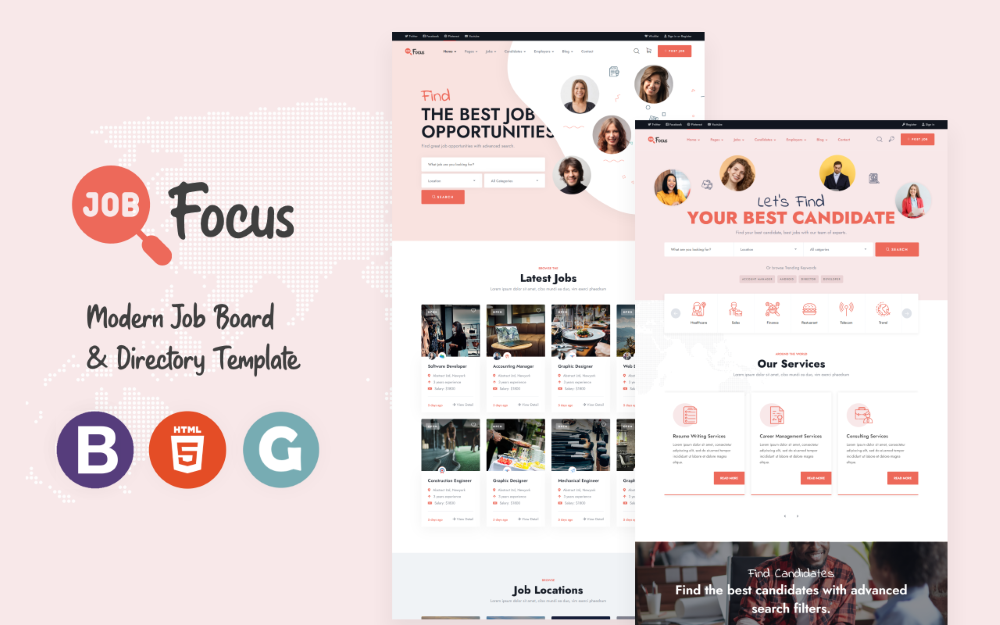 JobFocus – İş İlanı HTML Şablonu
